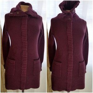 Athleta Sweater Sula Snap Cardigan Sz S Purple